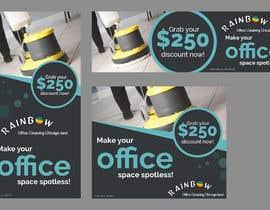 Nro 42 kilpailuun Design banners for office cleaning company käyttäjältä owlionz786