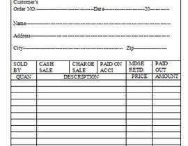 Nro 8 kilpailuun Design a NCR form for a Customers receipt käyttäjältä iamsamim570