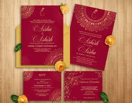 #7 для Indian Luxury Wedding Card/ Mehndi/ Henna Night / Valima Card Design від satishandsurabhi
