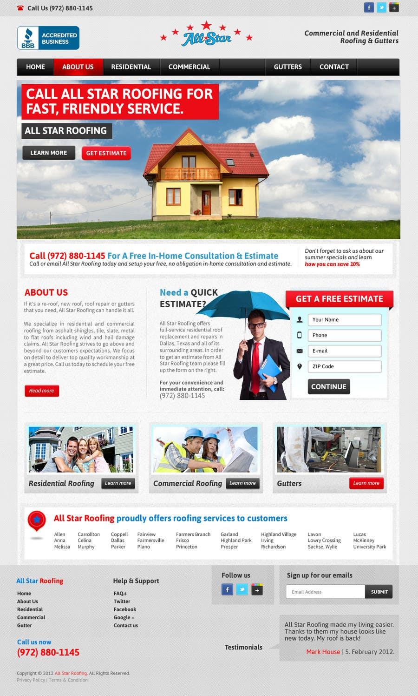 Konkurrenceindlæg #29 for Website Design for All Star Roofing