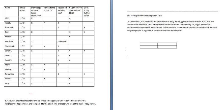 Proposition n°                                        12                                      du concours                                         epidemiology homework