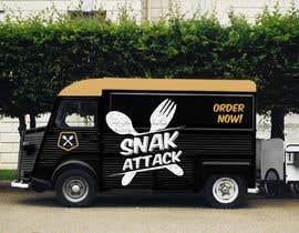 """#28 untuk Logo for food truck name """"Snak Attack"""" Colors not more than three colors oleh AWilk3"""