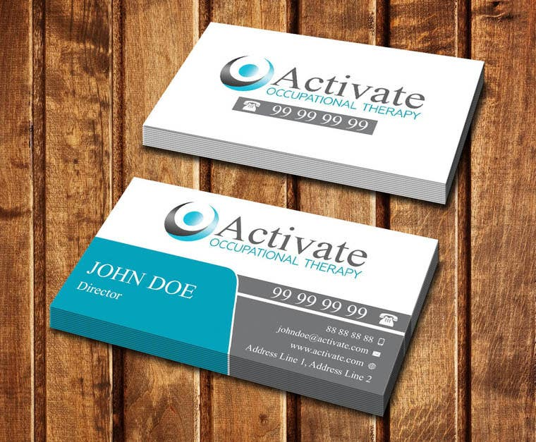 Penyertaan Peraduan #                                        57                                      untuk                                         Design some Business Cards for Activate Occupational Therapy