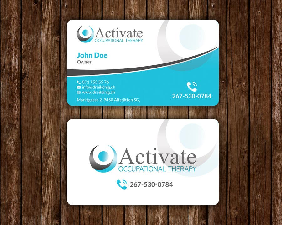 Contest Entry 47 For Design Some Business Cards Activate Occupational Therapy