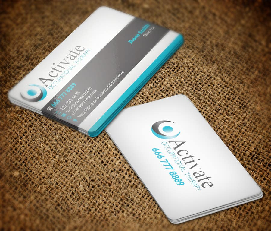 Penyertaan Peraduan #                                        63                                      untuk                                         Design some Business Cards for Activate Occupational Therapy