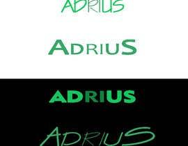 "#5 Beautiful Typography of ""ADRIUS"" Word Logo részére AdryCily által"