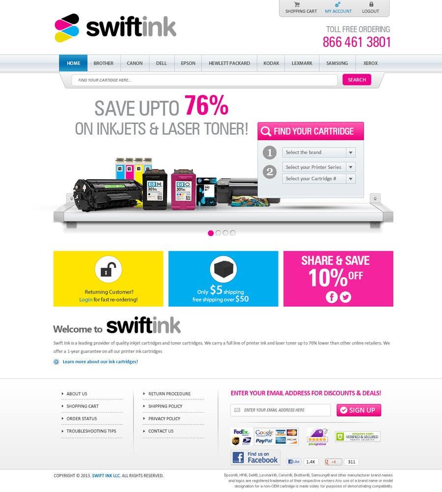 Konkurrenceindlæg #                                        33                                      for                                         Website Design for Swift Ink