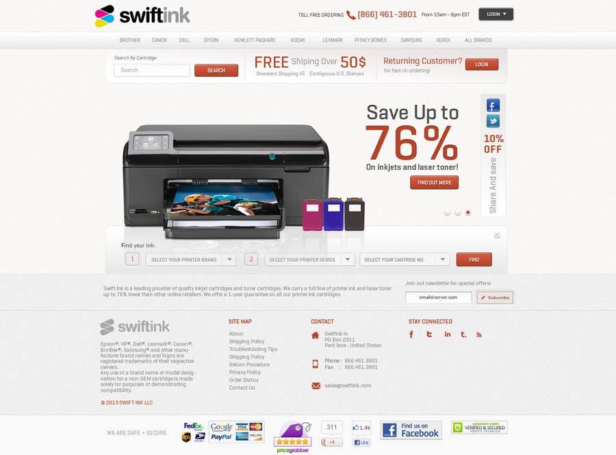 Konkurrenceindlæg #                                        51                                      for                                         Website Design for Swift Ink