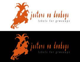 "hihimanshu70 tarafından This should be fun: ""Jesters on Donkeys"" looking for company logo design için no 66"
