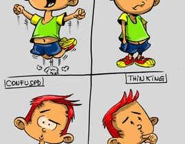 Nro 7 kilpailuun Draw a cartoon boy with 4 facial expressions käyttäjältä ecomoglio