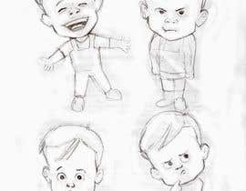 Nro 21 kilpailuun Draw a cartoon boy with 4 facial expressions käyttäjältä elinavarro
