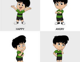 Nro 17 kilpailuun Draw a cartoon boy with 4 facial expressions käyttäjältä rajchoudhary265