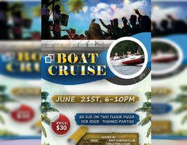 #45 for Design a flyer for a boat party by momotamumu11