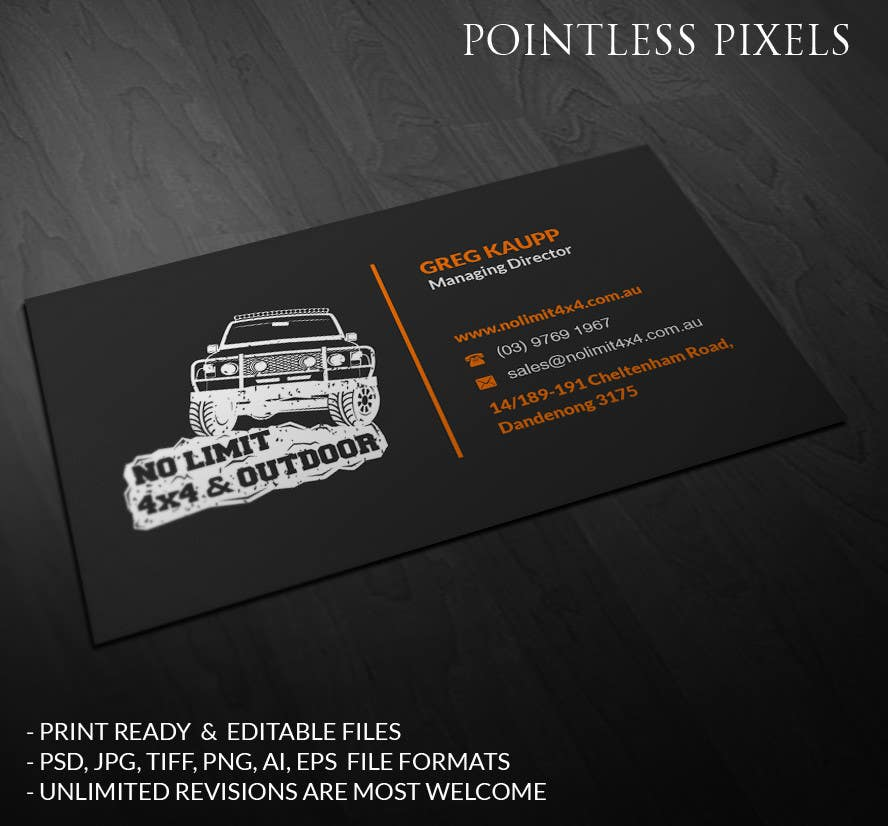 Entry 37 by pointlesspixels for business card design no limit 4x4 contest entry 37 for business card design no limit 4x4 reheart Choice Image