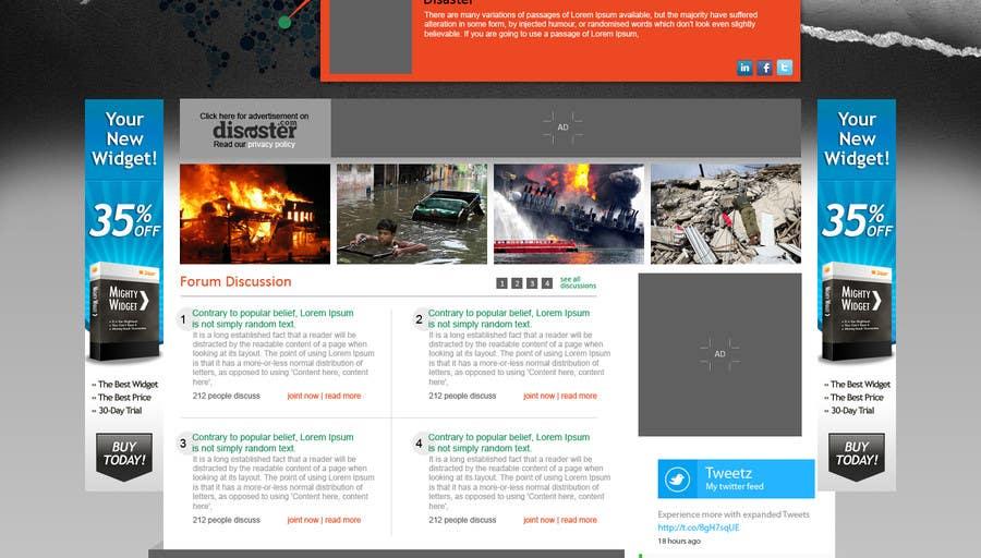 Bài tham dự cuộc thi #35 cho Website Design for Disaster.Com