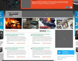 ANALYSTEYE tarafından Website Design for Disaster.Com için no 35