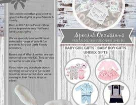 #6 for leaflet design - online retail baby clothes by d3stin