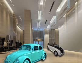 ideafuturot tarafından Illustrate an interior with visitors and attractions for a modern VW Beetle museum için no 55