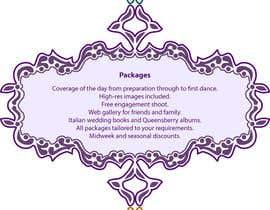 #4 untuk Wedding Photography Infographic oleh SigridQ