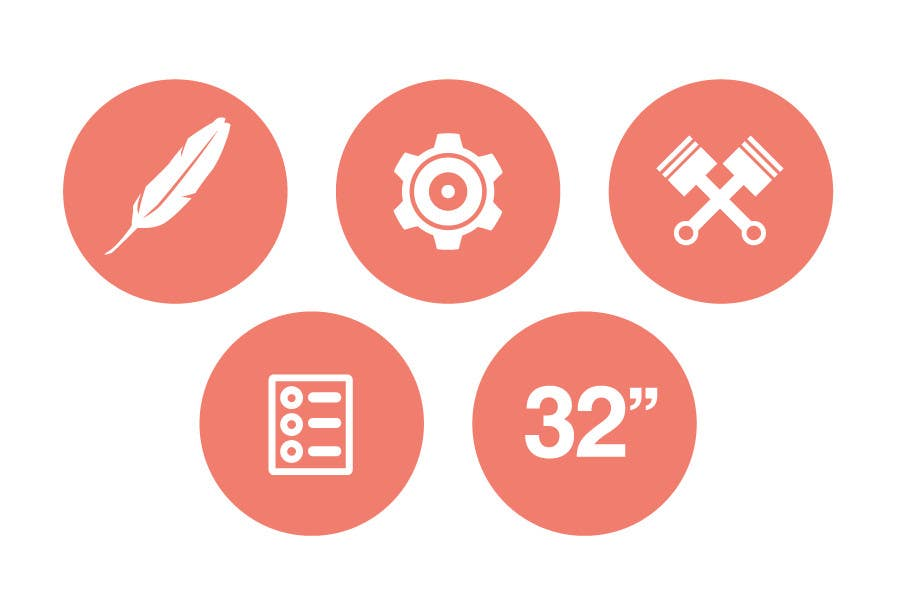 Bài tham dự cuộc thi #                                        13                                      cho                                         Design some Icons for motorsports company site