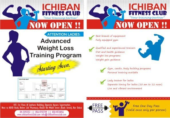 Entry #5 by rekha4980 for To design Gym Flyer Japanese theme