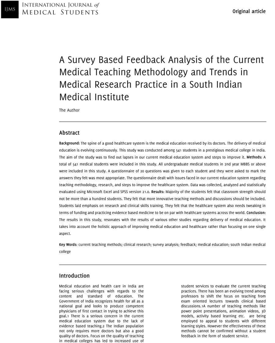 Contest Entry 3 For Create A Word Template Scientific Articles From Pdf