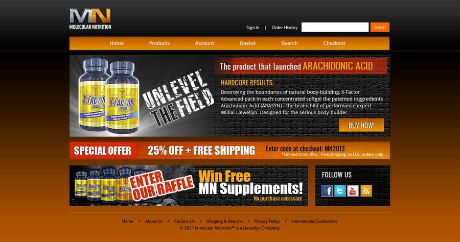Penyertaan Peraduan #                                        53                                      untuk                                         Website for Sports Nutrition Co. NO CODING / GFX ONLY