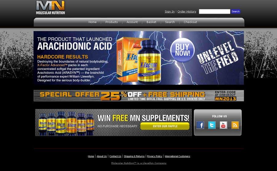 Inscrição nº                                         67                                      do Concurso para                                         Website for Sports Nutrition Co. NO CODING / GFX ONLY