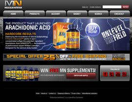 nº 60 pour Website for Sports Nutrition Co. NO CODING / GFX ONLY par julianikolaeva