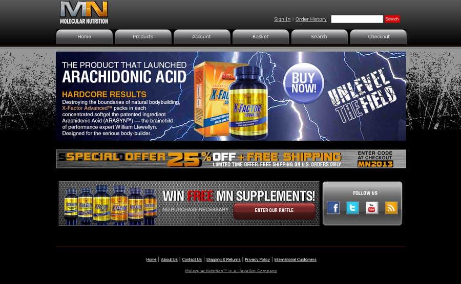 Penyertaan Peraduan #                                        63                                      untuk                                         Website for Sports Nutrition Co. NO CODING / GFX ONLY