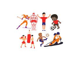 #30 for Simple sports and people graphic designs, cartoons... comics... by kazisydulislambd