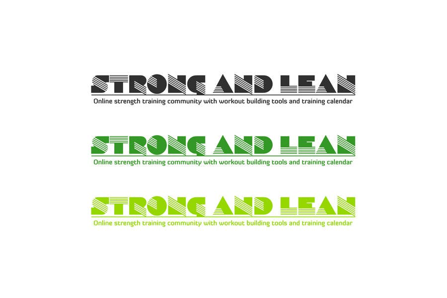 Proposition n°144 du concours Logo Design for Strong and Lean