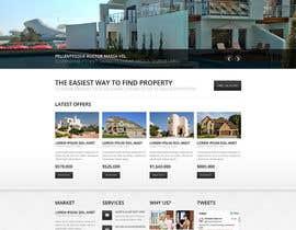 nº 8 pour Simple Property Website par jitshuvo