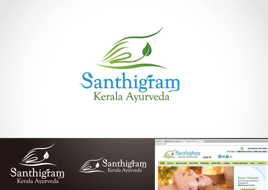 Конкурсная заявка №60 для Logo Design for Santhigram Kerala Ayurveda