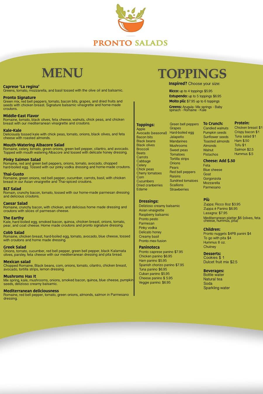 Penyertaan Peraduan #                                        7                                      untuk                                         I need some Graphic Design for a menu