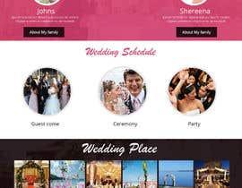 #7 untuk Wedding design - one page template oleh smartyogeeraj