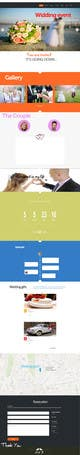 Imej kecil Penyertaan Peraduan #                                                6                                              untuk                                                 Wedding design - one page template