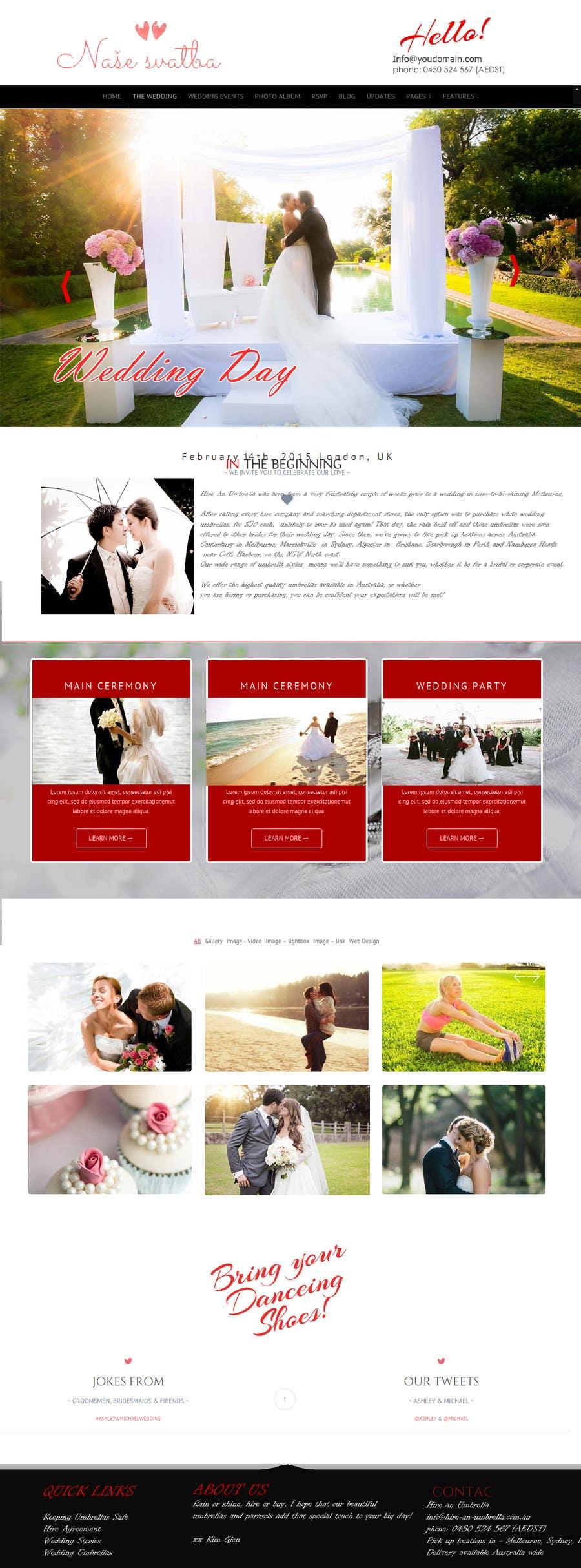 Penyertaan Peraduan #                                        5                                      untuk                                         Wedding design - one page template