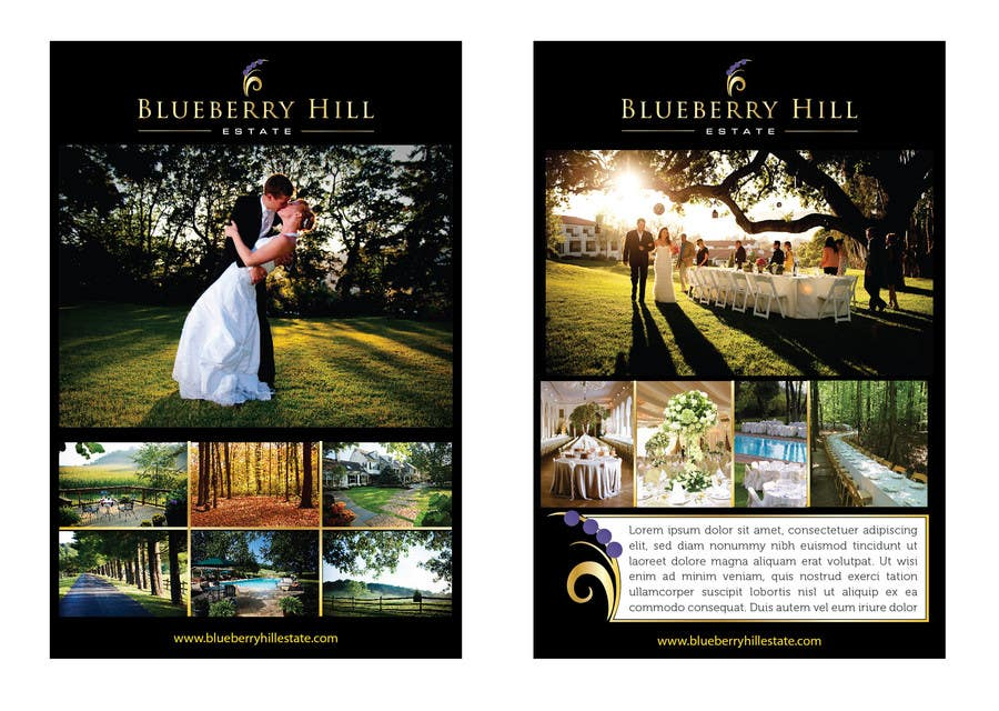 Bài tham dự cuộc thi #11 cho Graphic Design for MARKETING BROCHURE -Blueberry Hill Estate- Wedding Specific -Media Kit for print