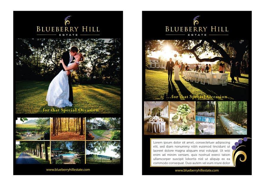 Konkurrenceindlæg #32 for Graphic Design for MARKETING BROCHURE -Blueberry Hill Estate- Wedding Specific -Media Kit for print