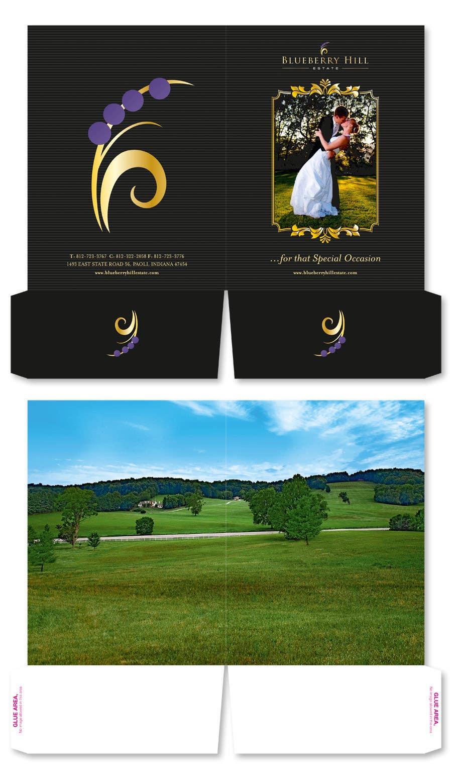 Konkurrenceindlæg #                                        61                                      for                                         Graphic Design for MARKETING BROCHURE -Blueberry Hill Estate- Wedding Specific -Media Kit for print