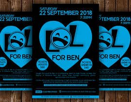 #42 for Fundraiser Flyer - Laugh Out Loud for Ben - or - LOL for Ben by ssandaruwan84
