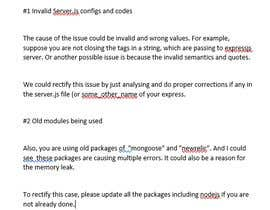 Nro 1 kilpailuun Fix node.js memory leak problem käyttäjältä jithil27