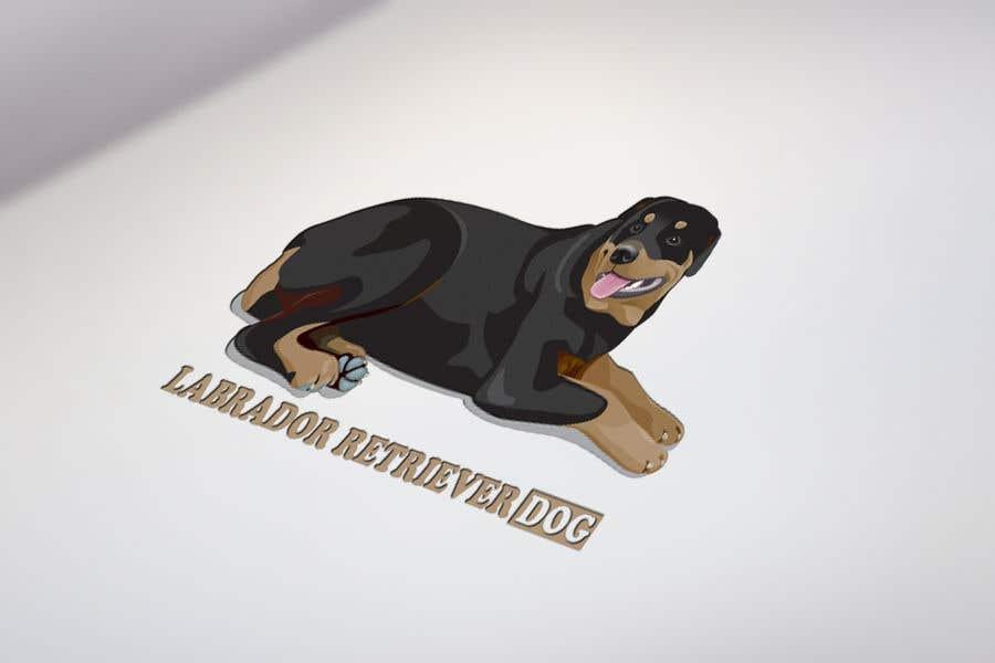 Contest Entry #6 for Logo design - Cartoon Dog Drawing logo