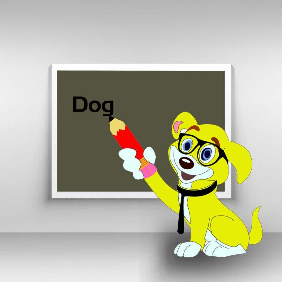 Contest Entry #30 for Logo design - Cartoon Dog Drawing logo