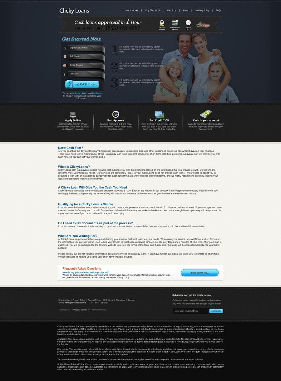 Inscrição nº 34 do Concurso para Website Design for clickyloans