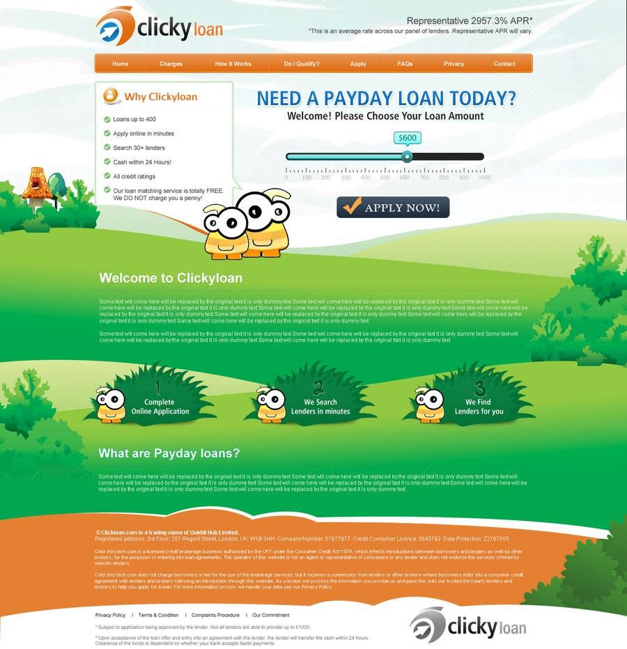 Inscrição nº 23 do Concurso para Website Design for clickyloans