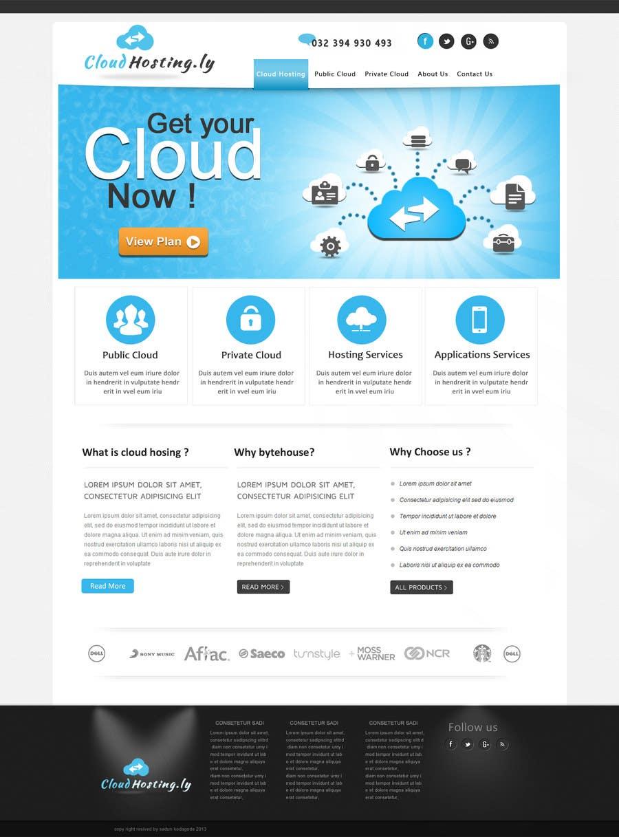 Inscrição nº 11 do Concurso para Website Design for cloud hosting and cloud storage mini site for major UK hosting company
