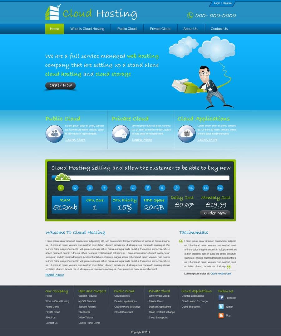 Inscrição nº                                         31                                      do Concurso para                                         Website Design for cloud hosting and cloud storage mini site for major UK hosting company