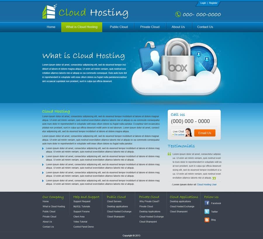 Konkurrenceindlæg #                                        24                                      for                                         Website Design for cloud hosting and cloud storage mini site for major UK hosting company